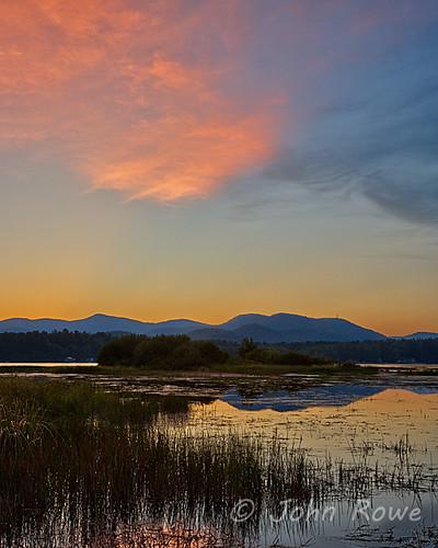 sunset summer newengland newhampshire nh september johnrowe pineriver ossipeelake ossipeemountains