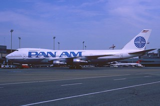 Pan Am Boeing 747-100; N4711U@ZRH, July 1989/ DCT
