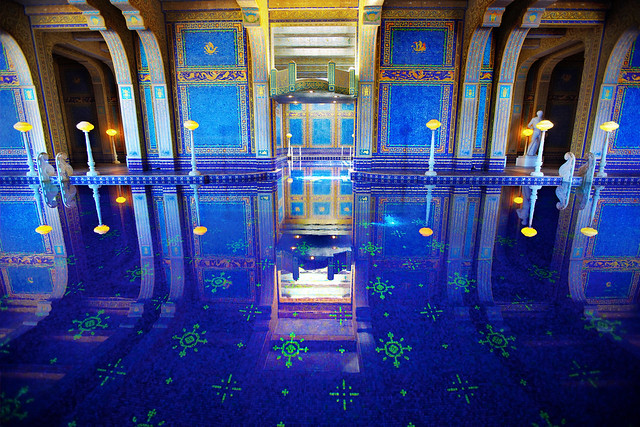 Blue Pool Reflection Hearst Castle Indoor Pool Roman Po Flickr Photo Sharing