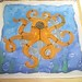 SteamPunk Octopus handkerchief Painted