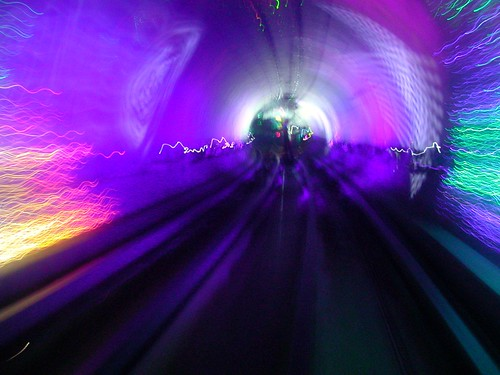 More of the trippy tunnel in Shanghai