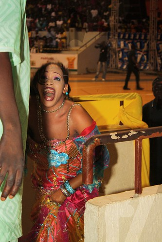 "<p>Oumou Sow has made a great ""spectacle"" once again, and shows her excitement at a job well done.</p>"