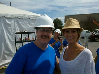 That's me with Tracy Hutson from Extreme Makeover home edition