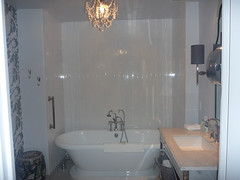 The bathroom in our sweet suite