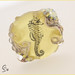 Sunshine Seahorse - Lampwork Glass Focal Bead by Clare Scott SRA