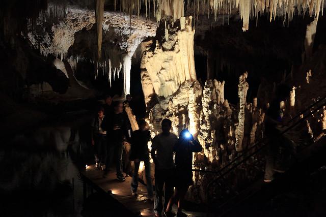 Exploring Lake Cave