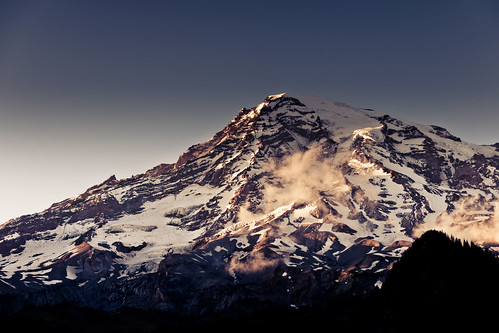cap clear cloud geotagged ice landscape landscapes lighting mountain mtrainier nationalpark nature rainier snow sunset usa washington weather 旅遊 旅遊攝影 美國