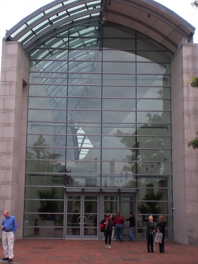 entrance to the peabody essex museum