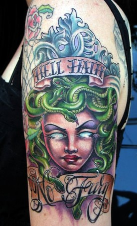 Fury_Medusa_Tattoo by kim saigh