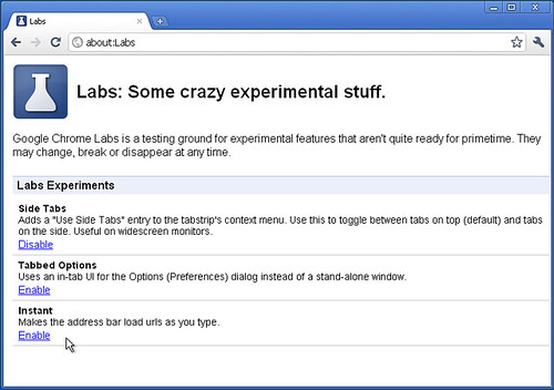 Chrome per Windows - Labs a quota tre