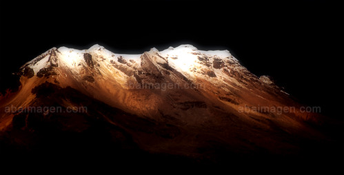 Volcano Iztaccihuatl  face east