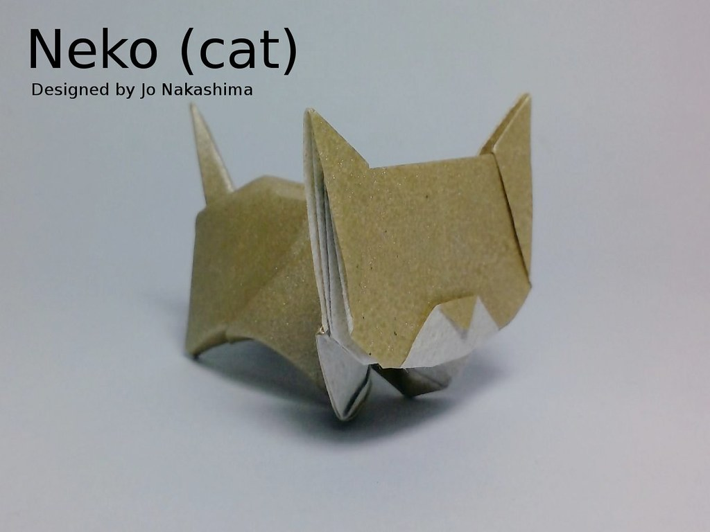 Interesting Flickr Photos Tagged Jonakashima Picssr Origami Cat Diagram Neko