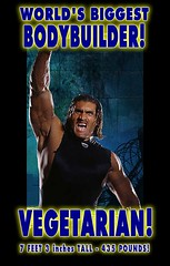 VEGETARIAN is Worlds Biggest Bodybuilder on Plant Muscle Protein Diet Great Khali Eats No Meat