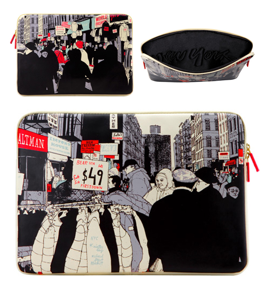 New York laptop sleeve by Evan Hecox, curated by Arkitip, produced by Incase