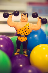 little muscle builder figurine
