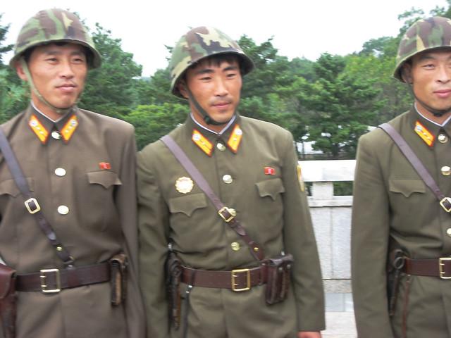 Soldiers at Panmunjon