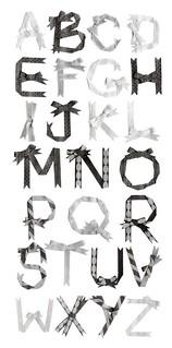 ribbon letters