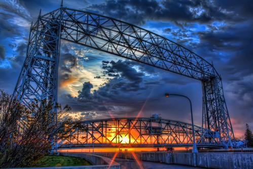 sunrise duluth hdr aerialliftbridge