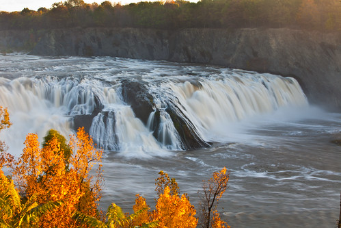 new york autumn ny fall water river waterfall scenery falls foliage mohawk waterford cohoes