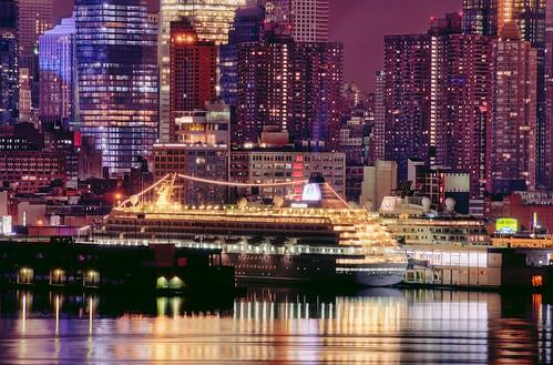 city nyc newyorkcity longexposure cruise ny newyork skyline night geotagged newjersey ship cityscape crystal nj hudsonriver passenger unioncity symphony hdr weehawken westnewyork unionhill mudpig stevekelley pier88