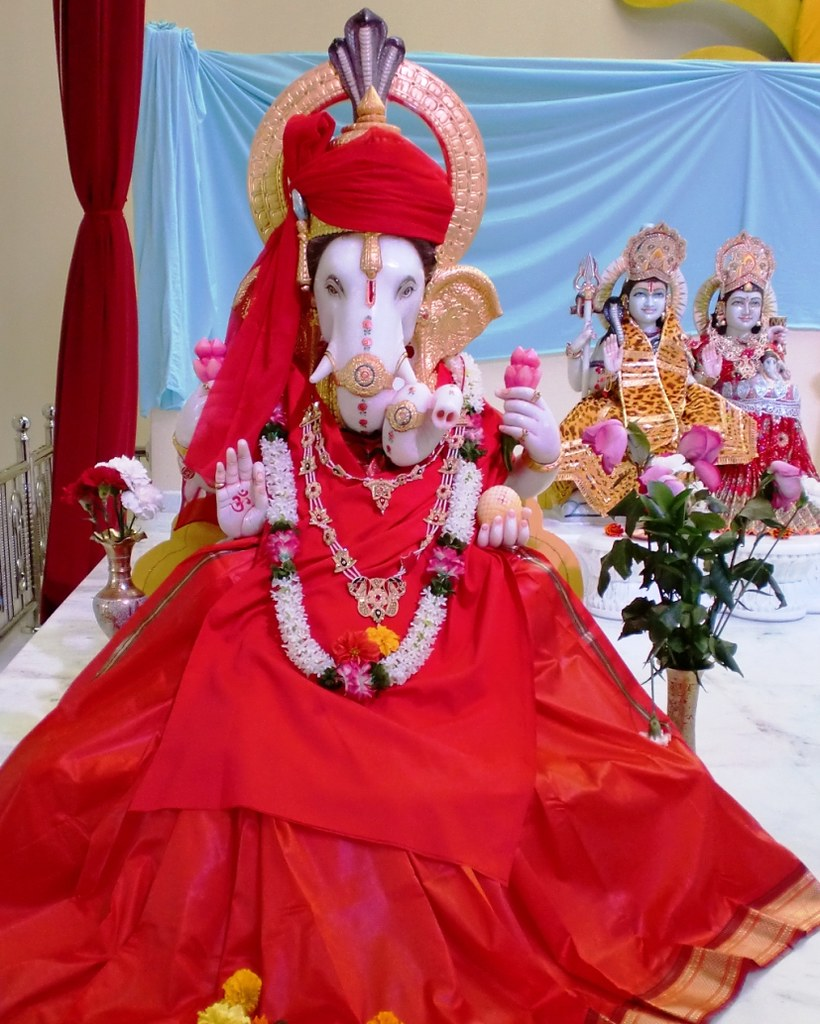 Ganesh in Red
