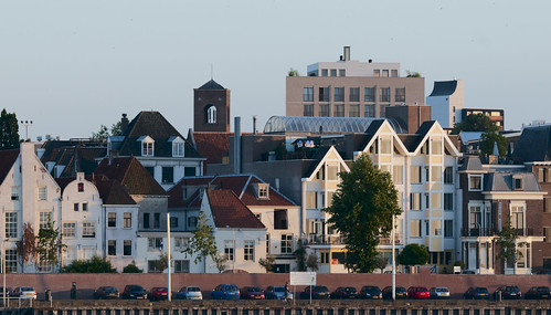 Gezicht op Nijmegen . View on the city of Nijmegen