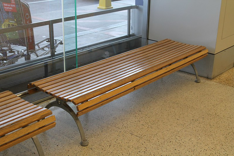 Bench in the Melbourne Airport
