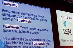 Retour utilisateur handicapé ? #parisweb