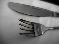 kitchen knife(0.0), throwing knife(0.0), fork(1.0), tool(1.0), knife(1.0), tableware(1.0), cutlery(1.0),