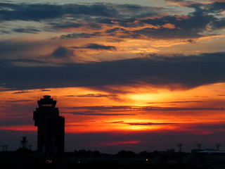 Sunset at MSP Airport