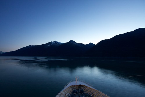 cruise sunset sea usa alaska landscape atardecer mar barco paisaje skagway 2010 crucero