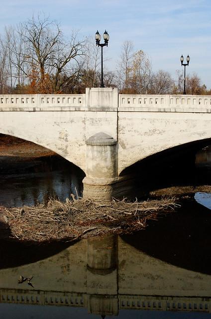 Detail, Carole Lombard Memorial Bridge, Fort Wayne, IN., 2010