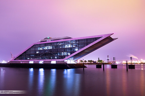 Dockland in Hamburg @ night