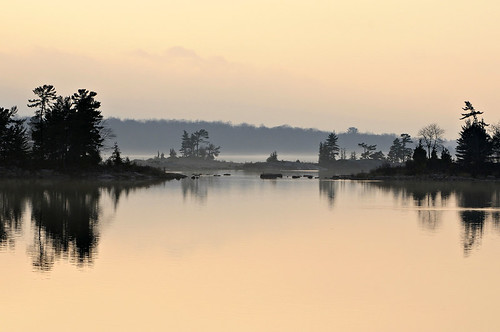morning mist beauty reflections islands pastel northchannel partridgepoint