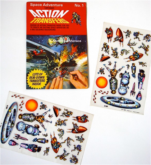 Letraset Action Transfers 'Space Adventure/Meteoroid Menace' 1968