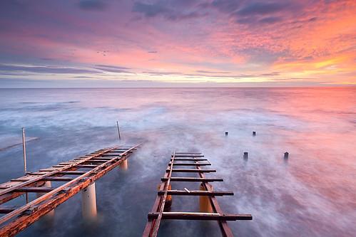 pink sunset red sea mare alba blu rosa rosso ancona pontile scivolo passetto discesa pontili scivoli