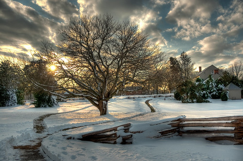 Winter Sunset at Sully Plantation