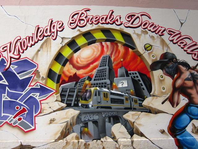 Knowledge Breaks Down Walls - Location: 73 Pine Street, Chippendale, Sydney, New South Wales, Australia