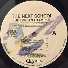 THE NEXT SCHOOL:SETTIN' AN EXAMPLE(LABEL SIDE-A)