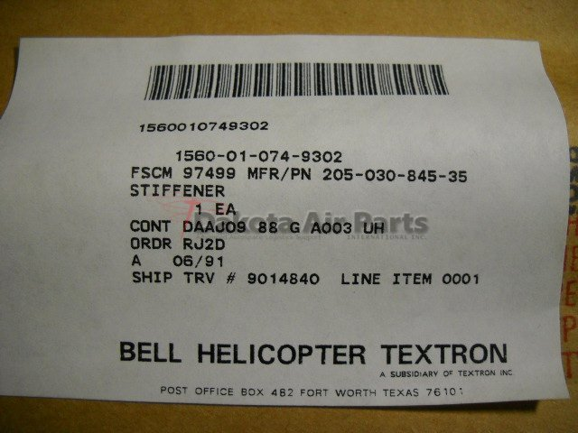 205-030-845-035_1 by Dakota Air Parts
