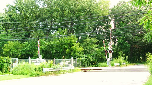 The Isabella Street CTA Purple line railroad crossing. Wilmette Illinois. July 2010. by Eddie from Chicago