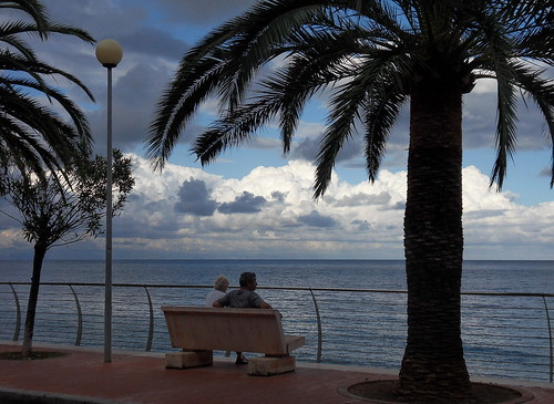 sea sky italy clouds bench relax riviera italia nuvole mare liguria palm cielo palme noli panchina delle ligure ponente