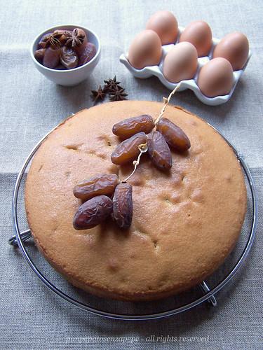 butter cake ai datteri, caffè ed anice stellato