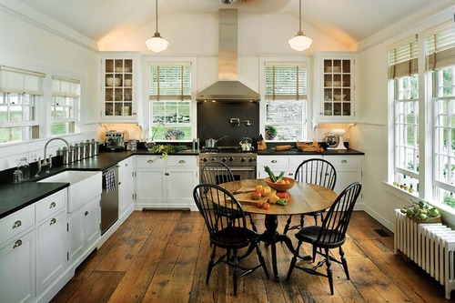 White Kitchen With Wood Floors Flickr Photo Sharing