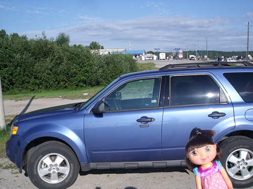 Dora and her ride, White River, ON
