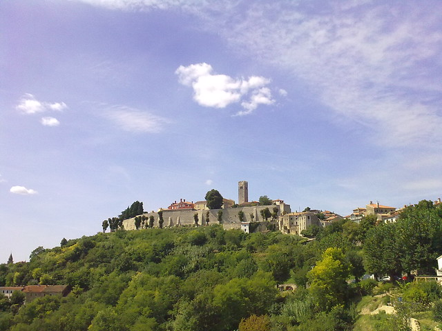 Castle of Motovun, Croatia. Lovely little mountaintop town.