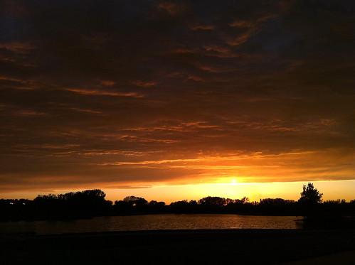 sunset storm night iowa iphone4 aegonlake