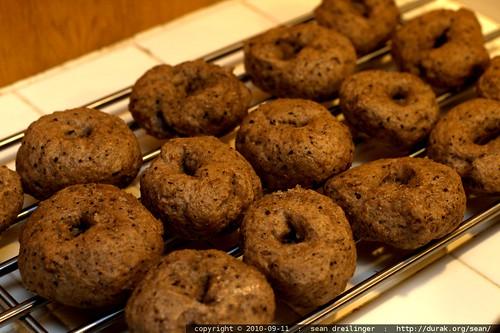 black rice sourdough bagels