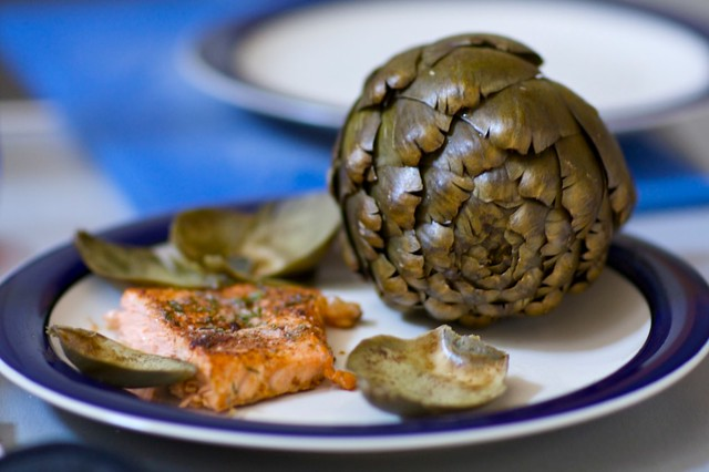 artichoke + salmon = love