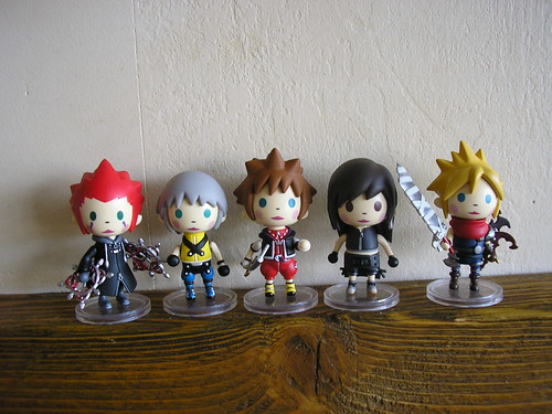 Kingdom Hearts Avatar Trading Arts Mini - Full set